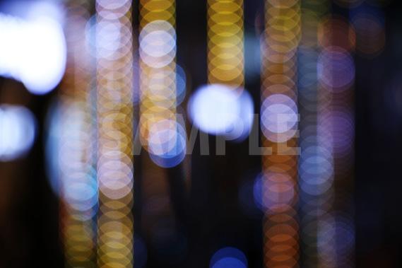 ピントのずれたイルミネーションの写真・フォト素材