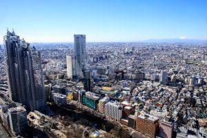 東京都庁・展望室から見たビルと町並みの写真