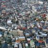 展望施設から見る街並みの写真・フォト素材