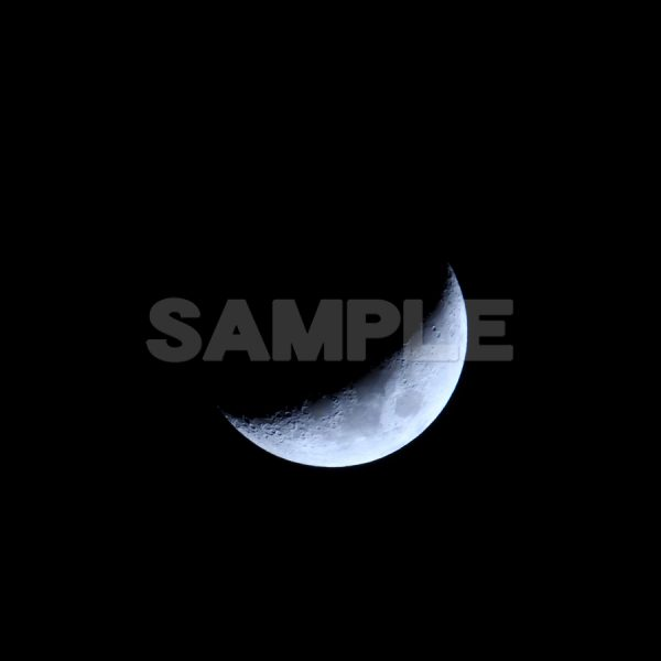 月の写真 正午月齢(4.7)月の写真,夜空,moon,Month,Canon,EOS Kiss X5