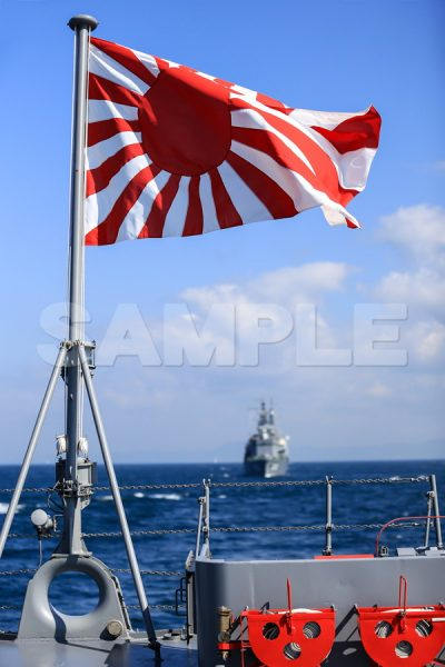 観艦式の写真「自衛艦旗」 艦名とね 観艦式,護衛艦,日本