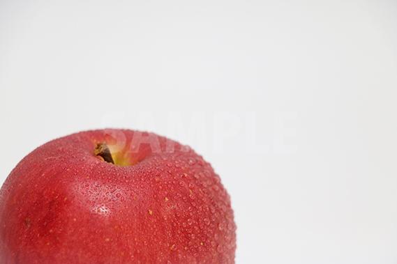 表面が水で濡れたりんごの写真・フォト