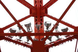 東京タワーの鉄骨とライトの写真・フォト