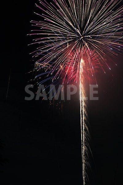 打ち上げ花火の写真・フォト素材
