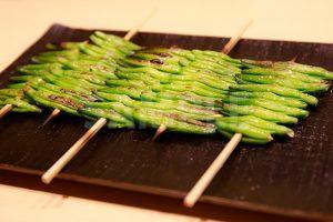 金針菜・ゆりのつぼみ(串)の写真・フォト素材
