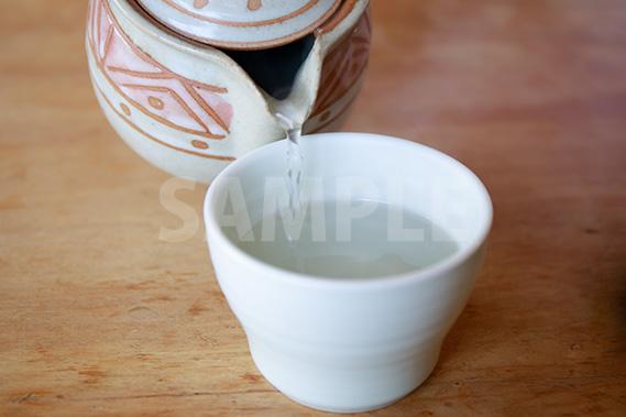 蕎麦湯の写真・フォト素材