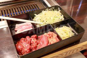 ロース定食(焼肉)の写真・フォト素材