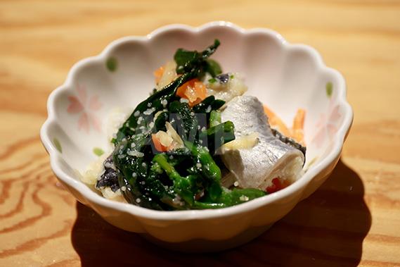 ニシンの菜の花漬け(小鉢)の写真・フォト