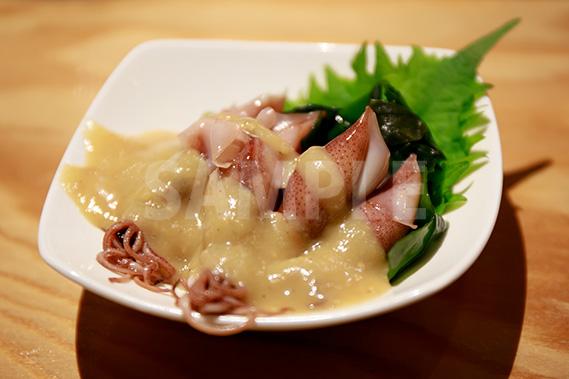 ホタルイカ 酢味噌の写真・フォト素材