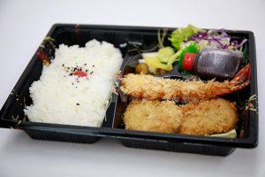 海老フライ ヒレカツ弁当の写真・フォト素材