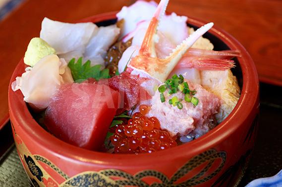 海鮮丼の写真・フォト素材