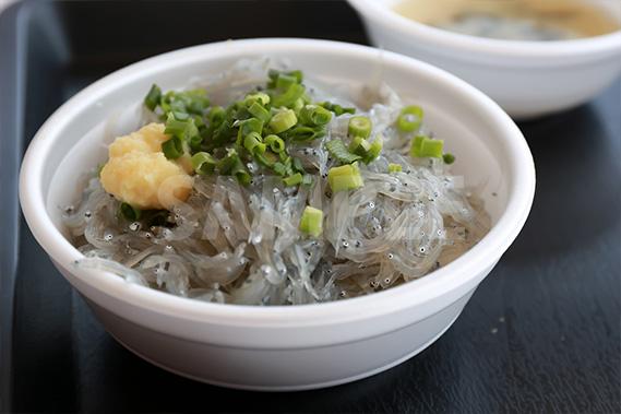 生シラス丼の写真・フォト素材