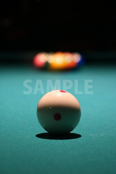 ビリヤードの手球の写真・フォト素材